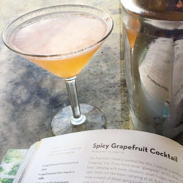 spicy grapefruit cocktail from cookbook Siriously Delicious