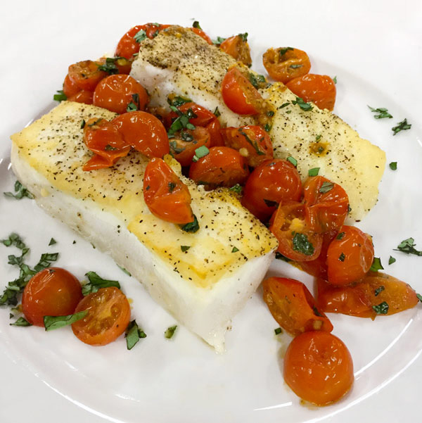 Pan Seared Halibut from Once Upon A Chef Cookbook