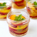 Stone fruit with Ginger-lime Syrup from Once Upon a Chef cookbook