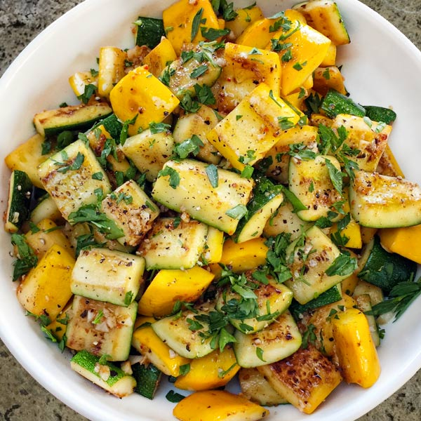pan seared summer squash from Secrets of the Southern Table by Virginia Willis
