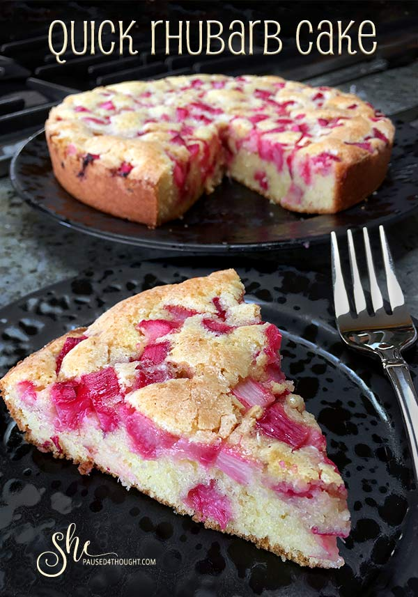 Quick Rhubarb Cake from Decadent Fruit Desserts