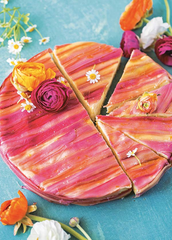 rhubarb-striped mango cake   Decadent Fruit Desserts Jackie Bruchez