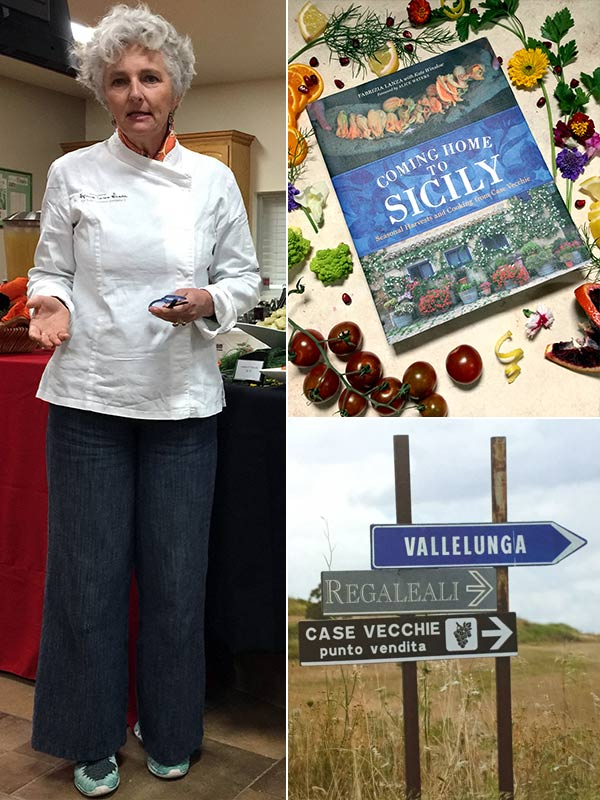 Fabrizia Lanza & her cookbook Coming Home to Sicily