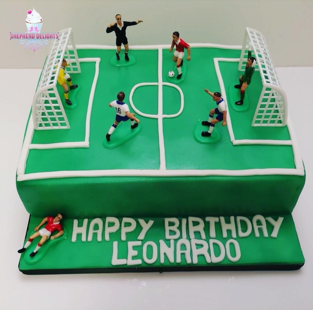 Football Pitch Birthday Cake Birthday Cakes Cakes For Children