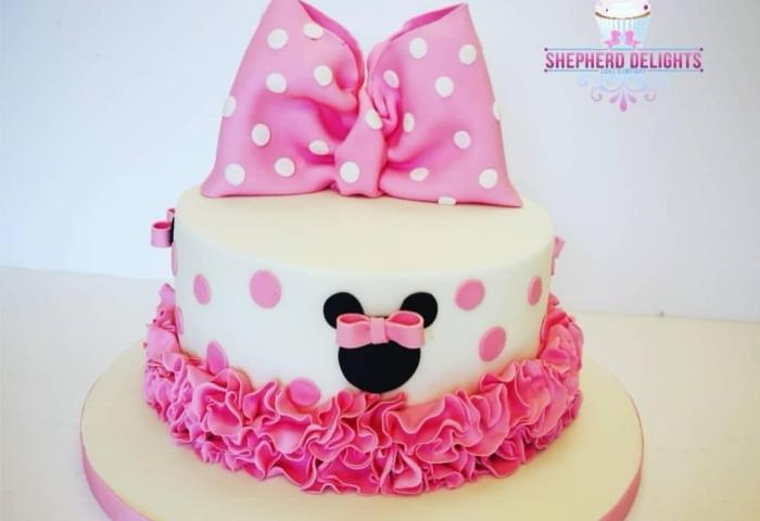 Minnie Mouse Birthday Cake Birthday Cakes Cakes For Children