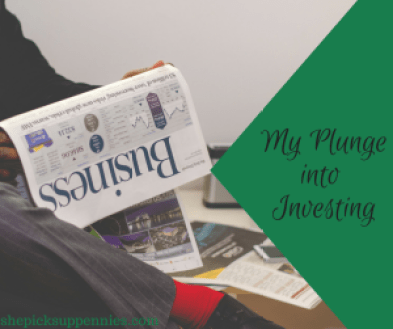 My Plunge into Investing