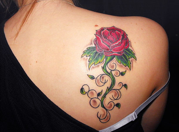 Tattoo Design For Girls Back Shoulder