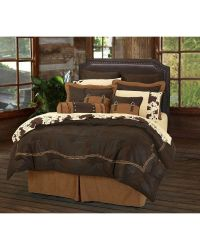 HiEnd Accents Embroidered Barbwire 7-Piece Queen Comforter ...
