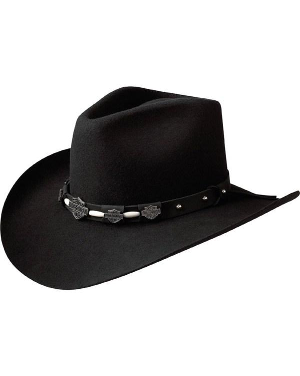 Harley Davidson Men' Wool Pinch Crease Hat Sheplers