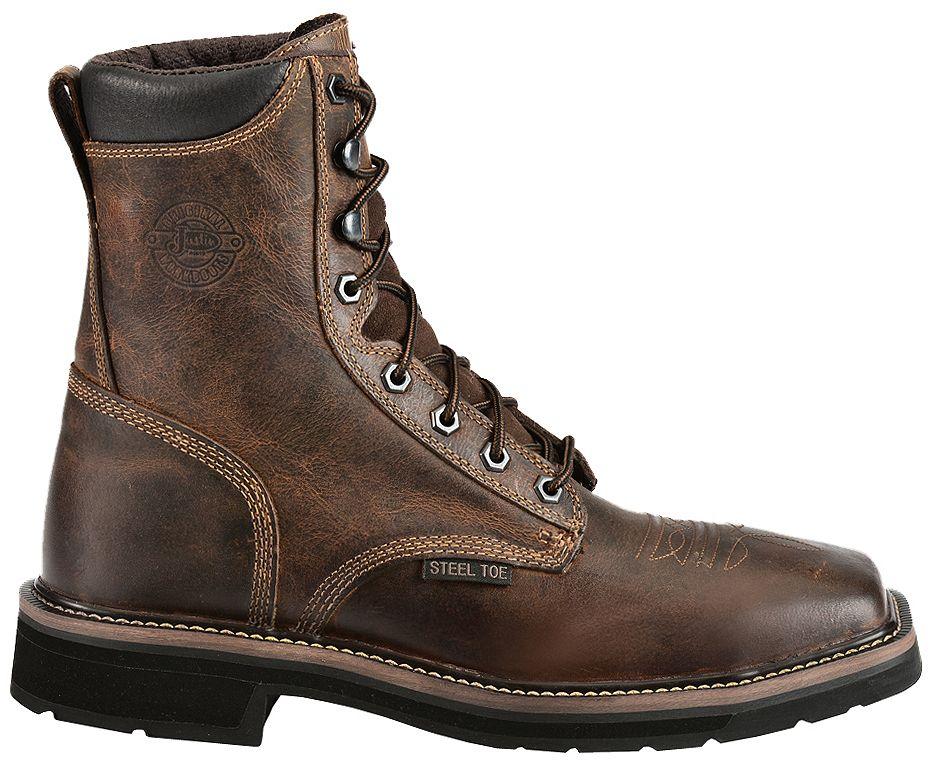 507c9892c59 Justin Steel Toe Lace Up Boots - Ivoiregion