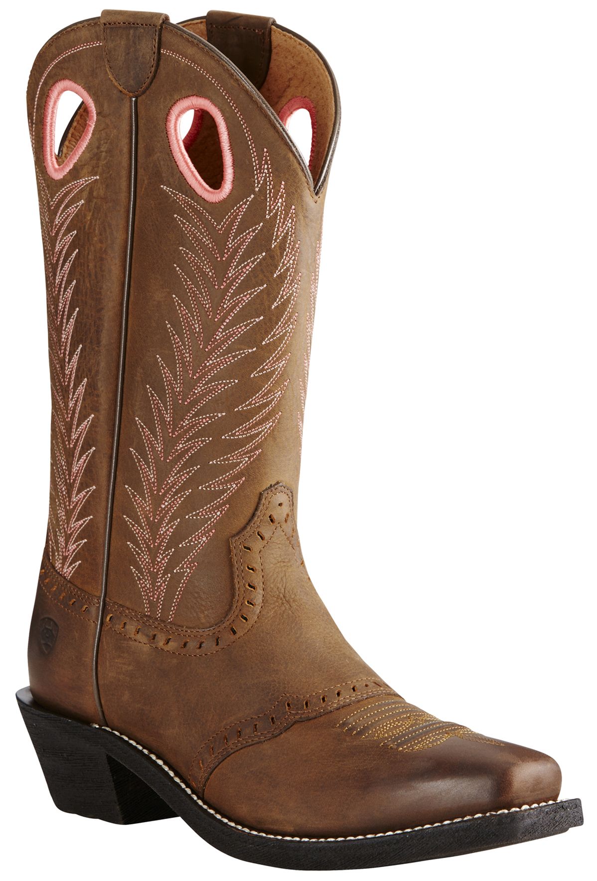 Ariat Womens Brown Heritage Rancher Boots  Square Toe