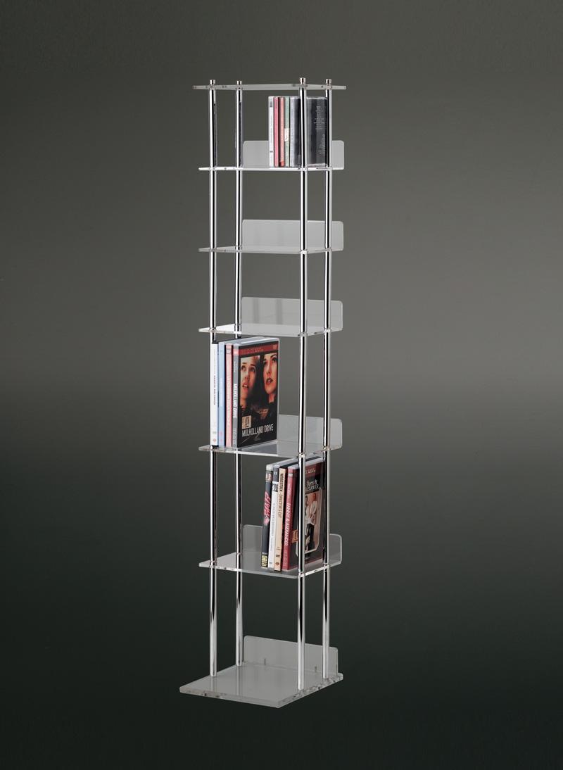 Torre porta CDDVD  Plexiglass e metallo cromato  Home