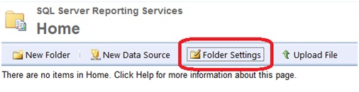 Click on Folder settings icon