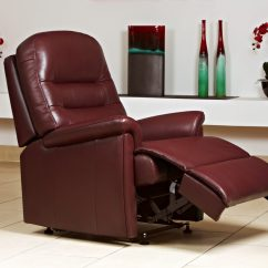 Lift Chair Covers Guest Office Chairs Keswick Standard Leather Recliner Sherborne Upholstery