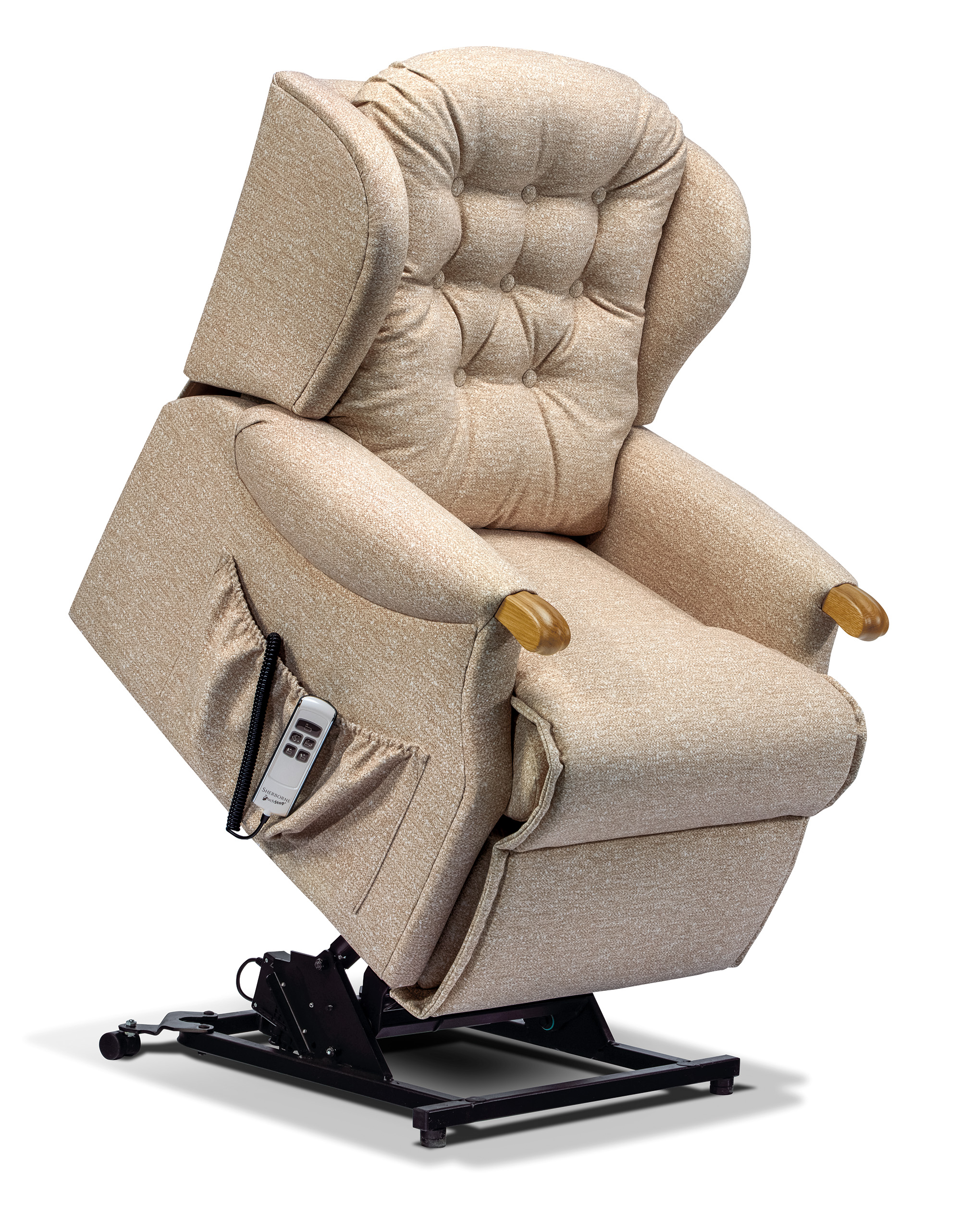 Lynton Knuckle Petite Fabric Electric Riser Recliner