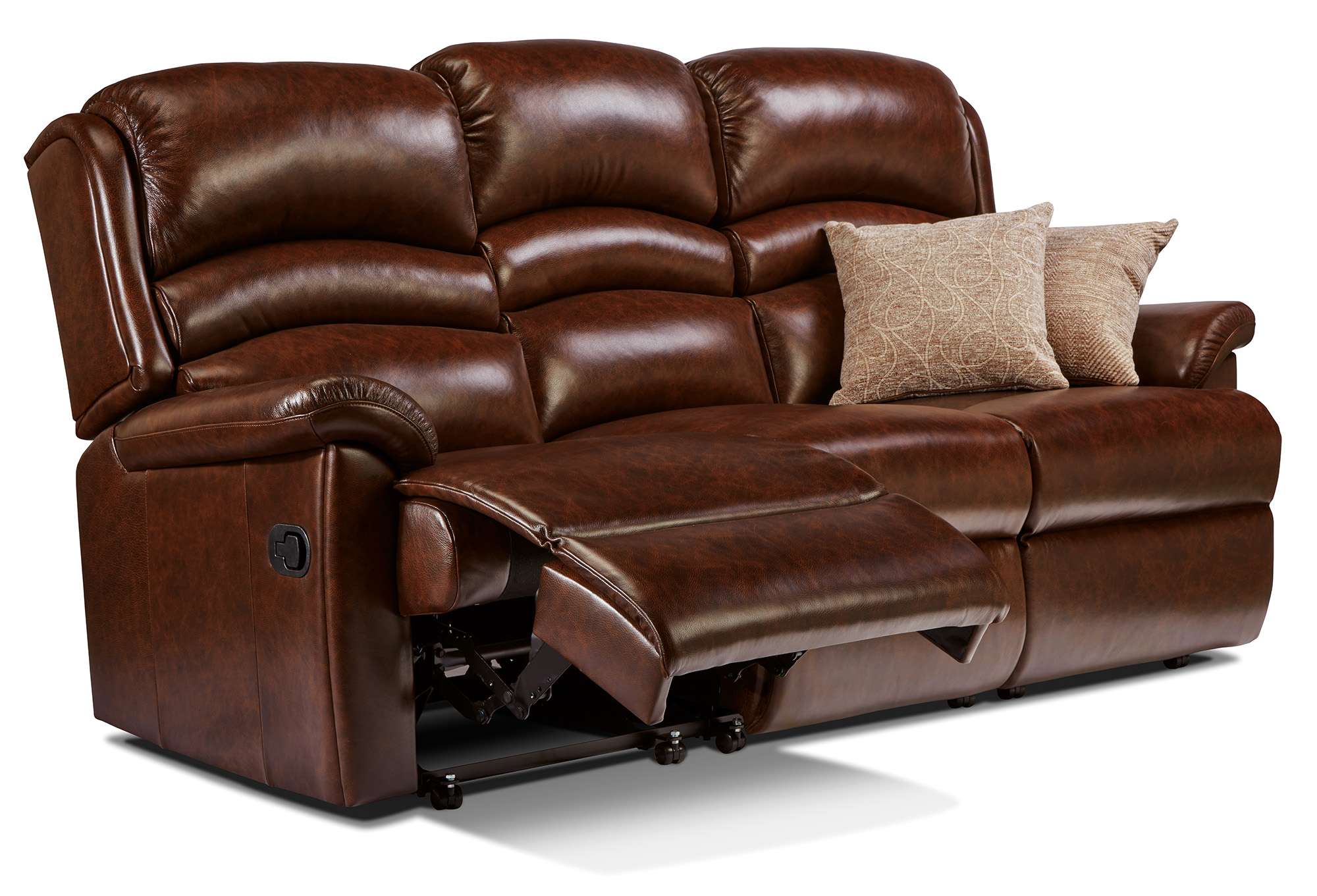 recliner riser chairs uk bedroom lounge target olivia standard leather reclining 3-seater settee - sherborne upholstery