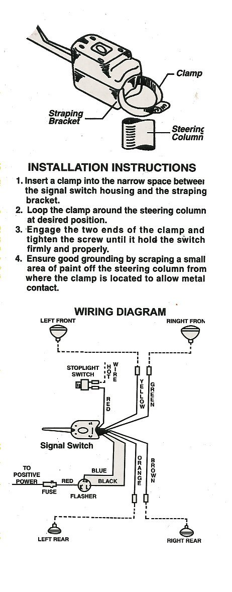 signal stat 900 7 wiring diagram vehicle wire turn switch schematic hl101 universal w indicator light