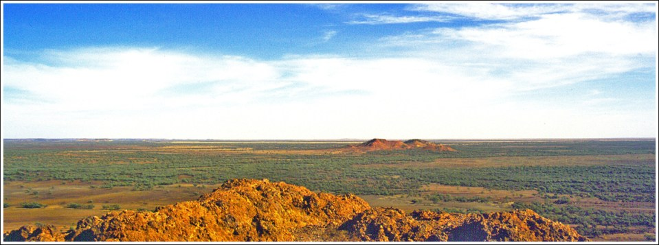 Outback Australia where the skin of the earth is still visible
