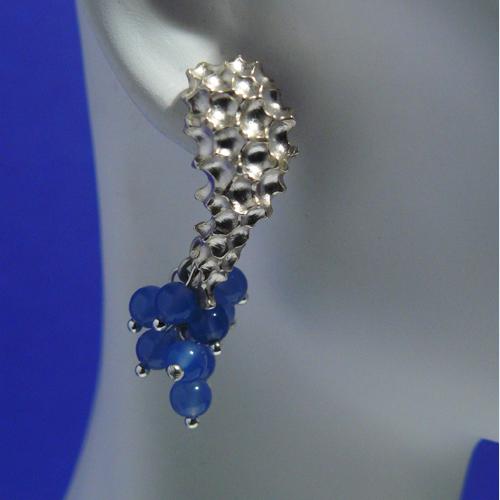 La Sirena earrings in 925 silver and chalcedony