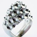 top view of 925 silver Crustaceous Gloria ring