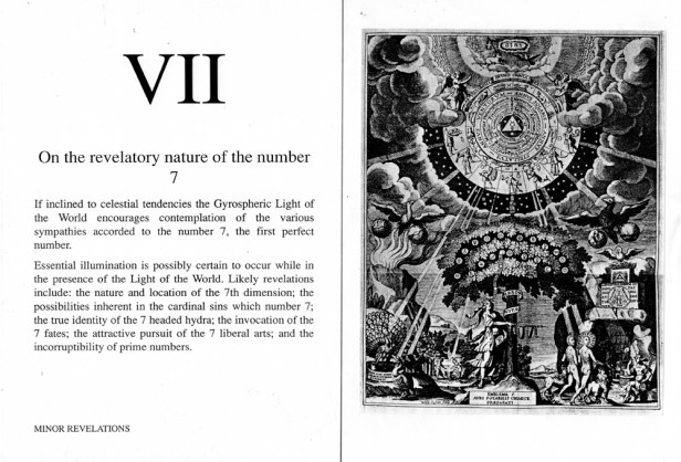 The Book of Minor Revelations: On the number VII. circa 1999