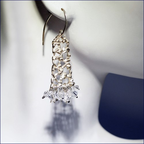 Cryslace earrings with Swarovski crystals