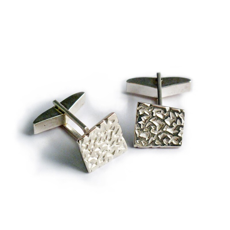 Sterling silver Pillar cufflinks