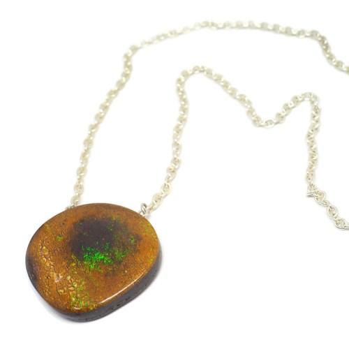 Australian Boulder Opal on silver chain