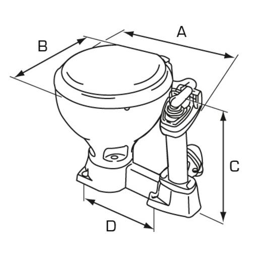 Jabsco Compact Bowl Manual 'Twist n' Lock' Toilet