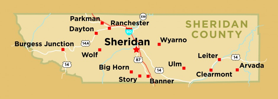 Wyoming Sheridan County Every County - Map wyoming counties