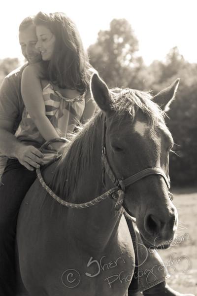 Horse Farm Engagement Cumming GA