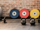 Exercising equipment arranged at the gym