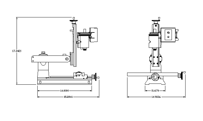 Lathe Machine Dimensions