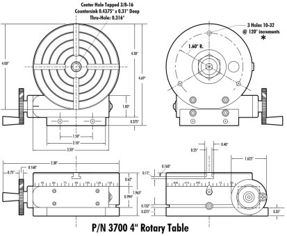 3700 Manual Rotary Table