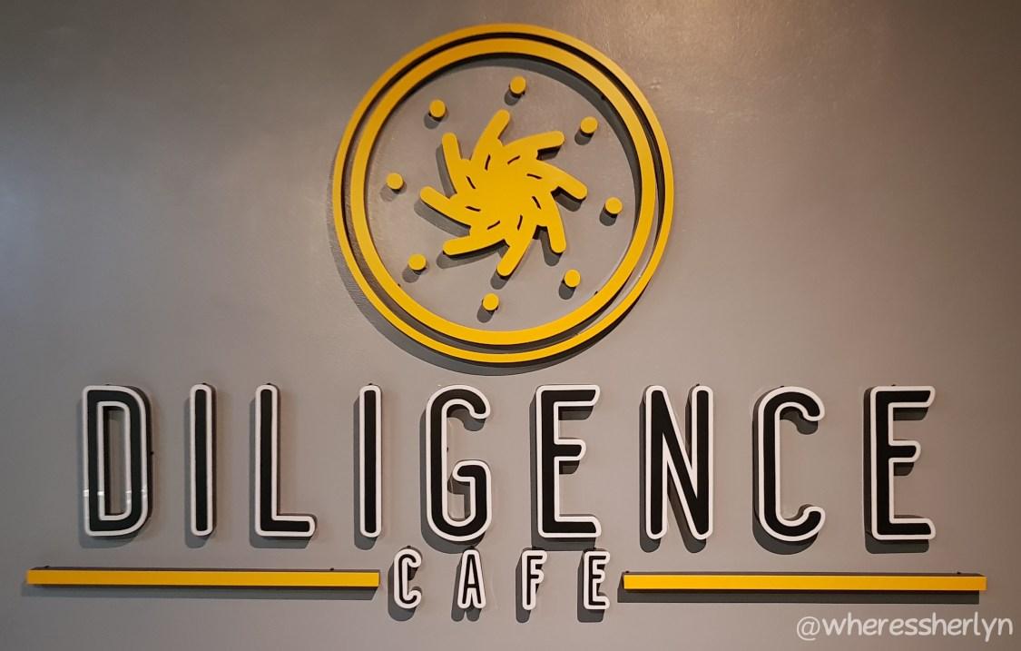 Diligence Cafe Entrance Signage