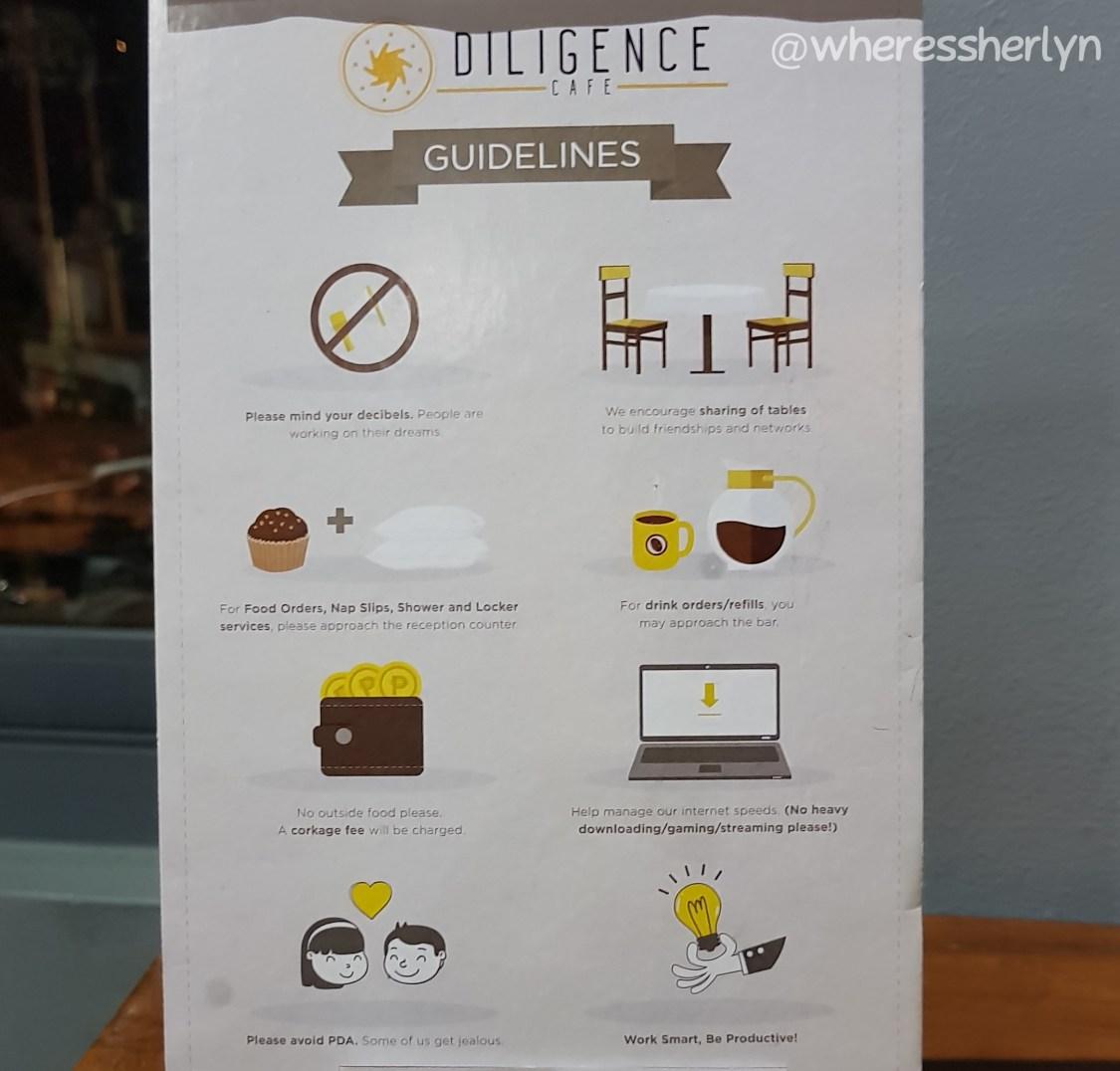 Diligence Cafe Guidelines