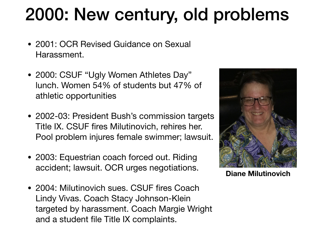 President bush title ix sexual harassment