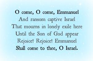 December 4: O Come, Emmanuel