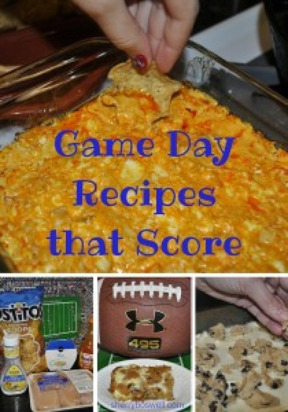 game day recipes pinterest image