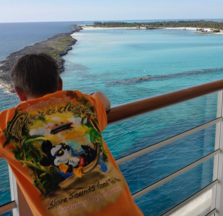 Disney Cruise advice | On the Disney Fantasy, soak in the view of Castaway Cay from a verandah