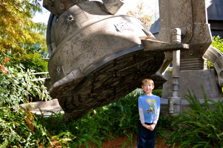 Disney Packing Tips | Don't forget cute shirts like this Yoda one which looks perfect in front of Star Tours at Disney's Hollywood Studios.