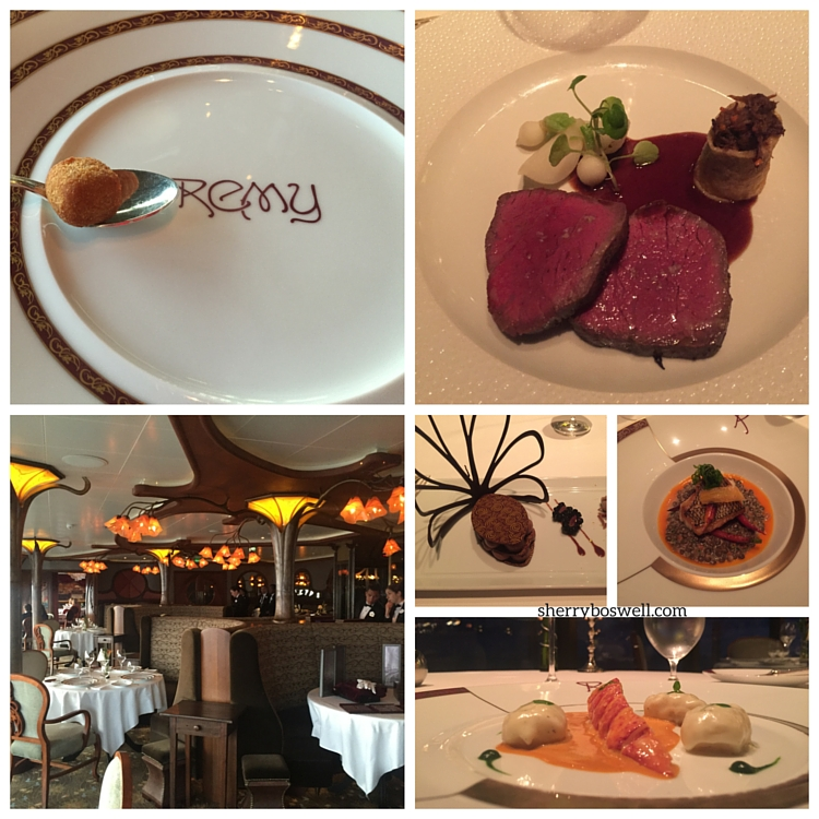 Remy dishes like Kobe beef, lobster,