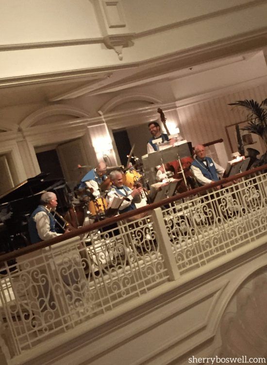 One of 7 reasons to love Disney's Grand Floridian Resort is the The Grand Floridian Society orchestra, which performs nightly.