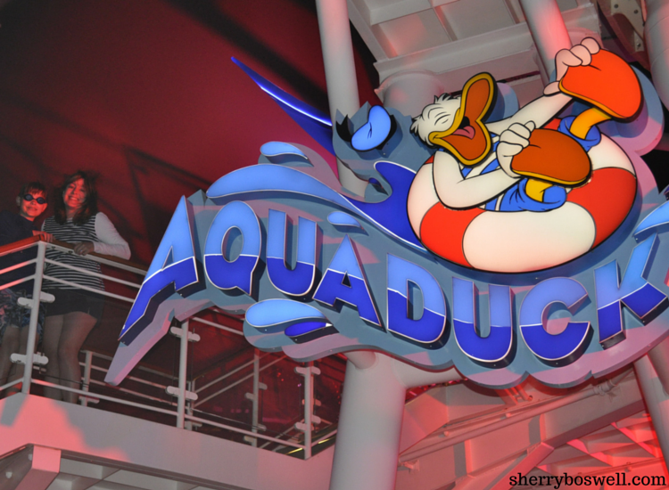 Disney Cruise advice | On the Disney Fantasy, slide on the Aquaduck solo or in tandem!