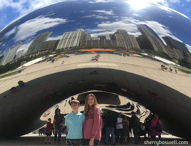 Chicago with Kids Teens Tweens | Cloud Gate (aka the Bean) at Millennial Park