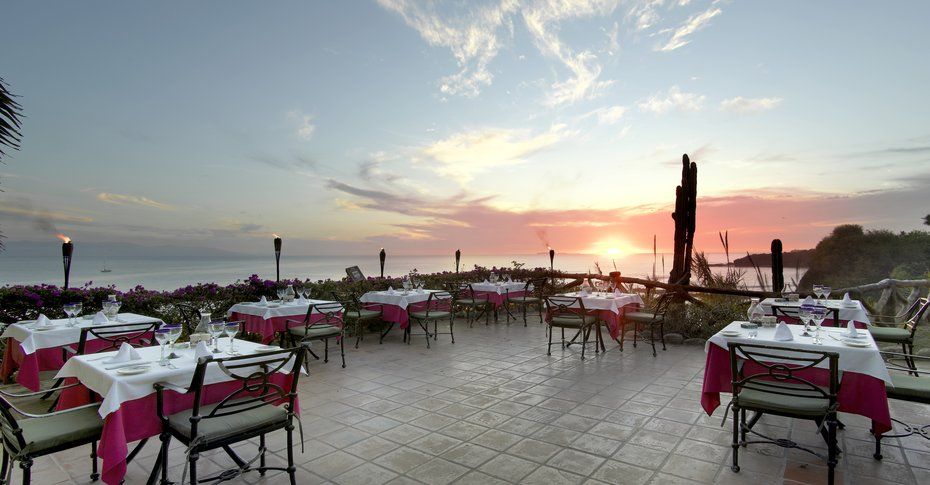 Puerto Vallarta Resort | Viva Mexico has patio dining al fresco with sunset views, so do not eat inside!
