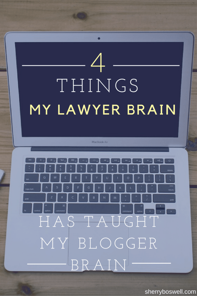 Legal tips for bloggers | Here are some things my lawyer brain has come up with that will help a blogging business. Think branding, protecting your work product, setting goals, being true to you, and don't take on too much. #bloggingtips # blogger #lawyer