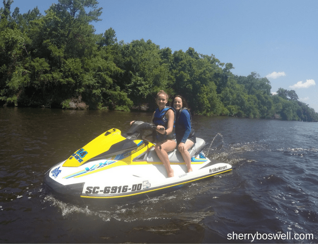 Myrtle Beach Family Fun | Fun in and out of the waves included a jet ski adventure to find dolphins with Myrtle Beach Water Sports.