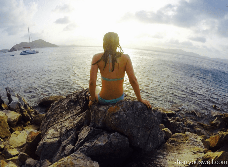 5 Things I Learned on my first catamaran charter Cooper Island overlook