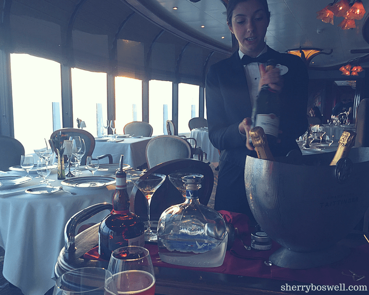 dine at Remy on your Disney cruise Making the Collette aperitif Remy